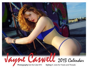 Image of Jayne Caswell 2013 Calendar from Treats and Threads- Rockabilly, Bikini and Pin up images
