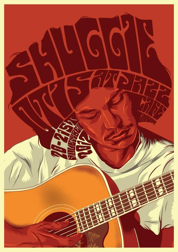 "Image of ""Shuggie Otis At Jazz Cafe"" A3 Gig Poster"