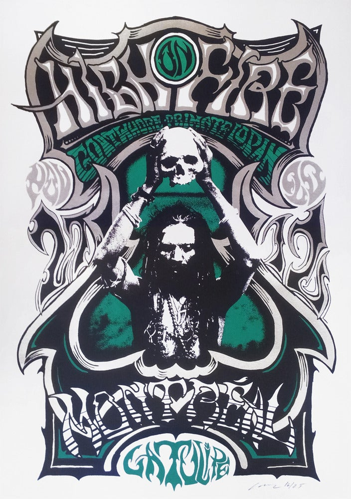 Image of High on Fire - Montreal 2012 - Silkscreen Poster - Green Variant