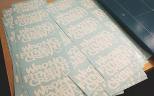 """Image of wrong fitment crew - """"crew love"""" decal"""