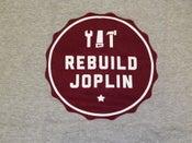 Image of Rebuild Joplin Tee-Gray with Red Logo