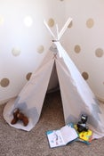 Image of Hand Painted Chevron Teepee-SILVER