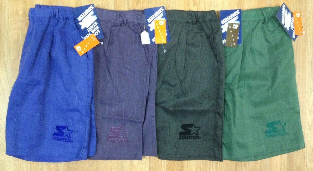 Image of Deadstock Vintage Starter Acidwash Shorts in Royal, Black, Purple or Green