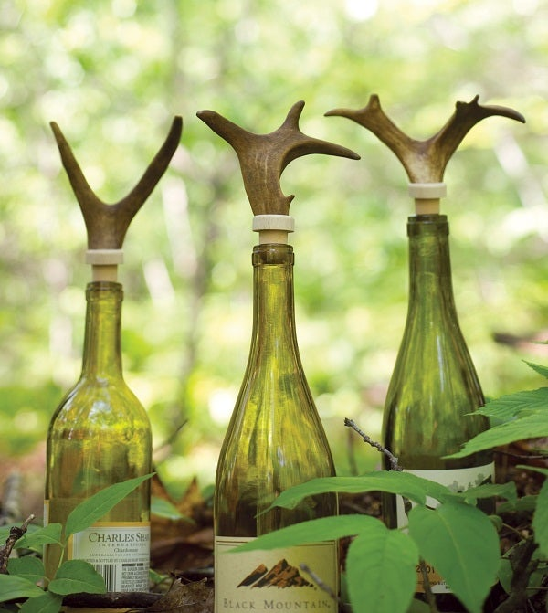 Image of Reindeer Antlers Wine Bottle Topper