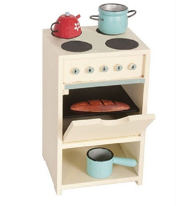 Image of Wooden Stove With Accessories