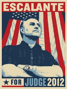 """Image of """"JUDGE"""" Limited Edition Silk Screened Poster by Shepard Fairey (Signed by Joe Escalante)"""