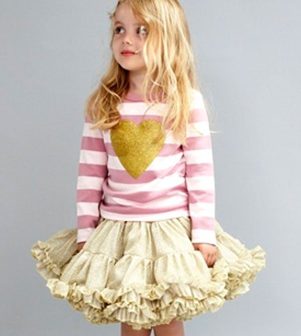Image of Heart Tee Vintage & Powder Pink Striped