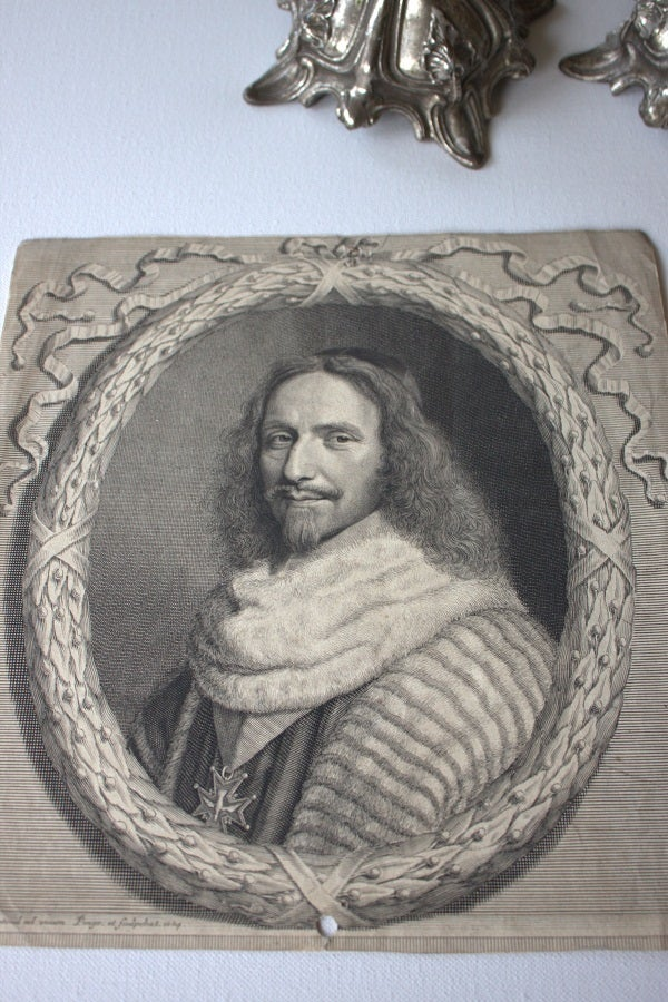 Image of Antique engraving (1657) by Robert Nanteuil
