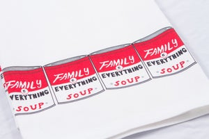 Image of Warhol Soup Can Tea Towel