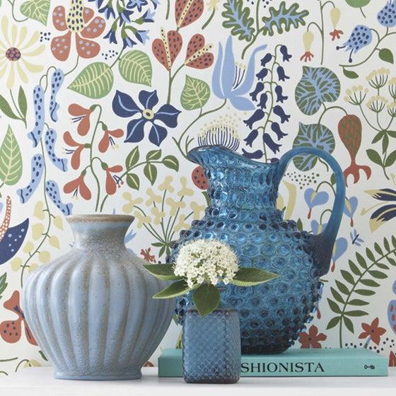 Image of Papel pintado flores Herbarium by Stig Lindberg - Scandinavian designers