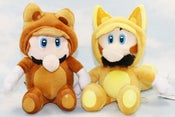 Image of Super Mario Bros. Raccoon Mario and Fox Luigi Plush Set (FREE SHIPPING)