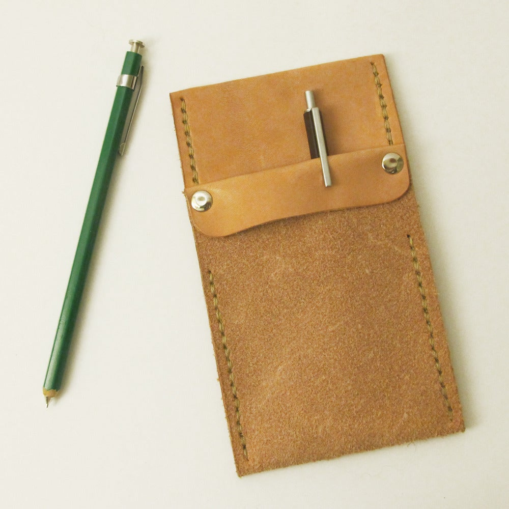 Image of Vegetable-Tanned Leather Pocket Protector