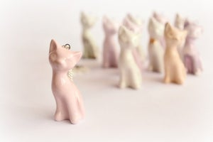 Image of Ceramic Kitten Necklace