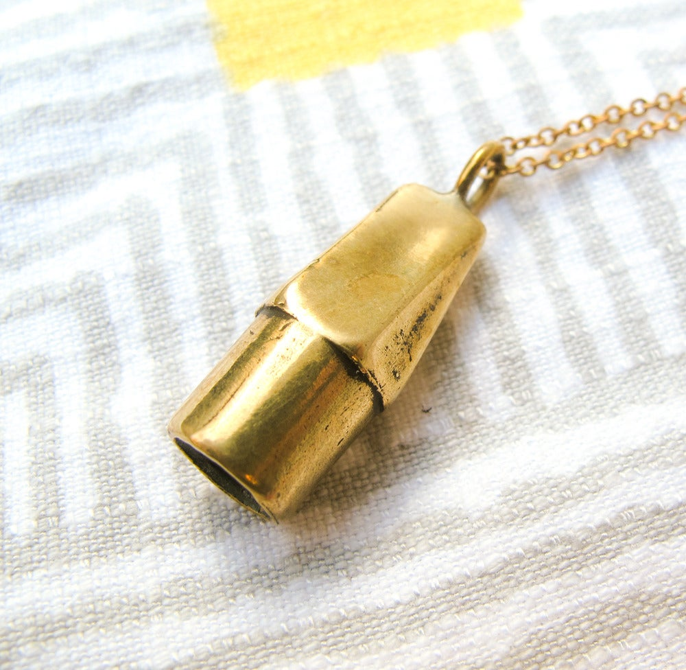 Image of Solid Brass Eraser Necklace