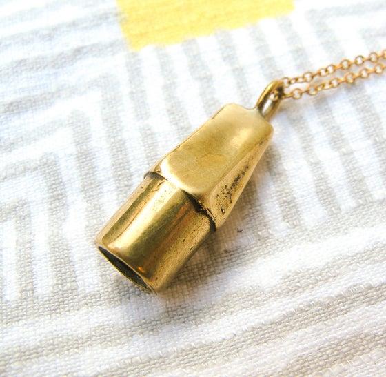 Image of Solid Brass Eraser Necklace