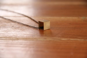 Image of Brass Cube Necklace