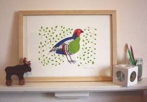 Image of Partridge Pear screen print
