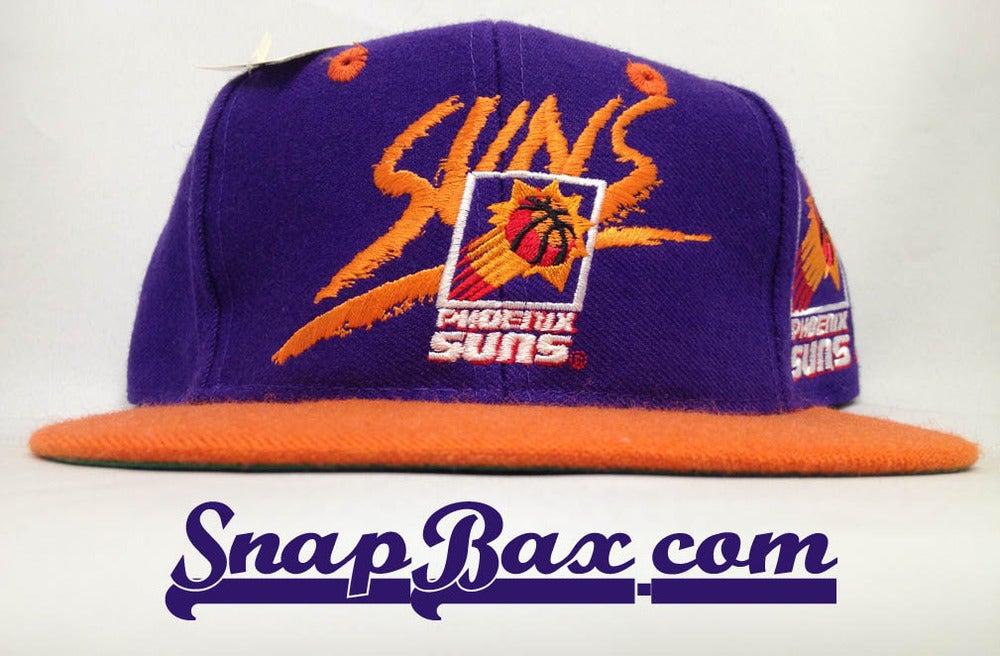Image of Vintage Deadstock Phoenix Suns Signature AJD Backscript Snapback Hat Caap