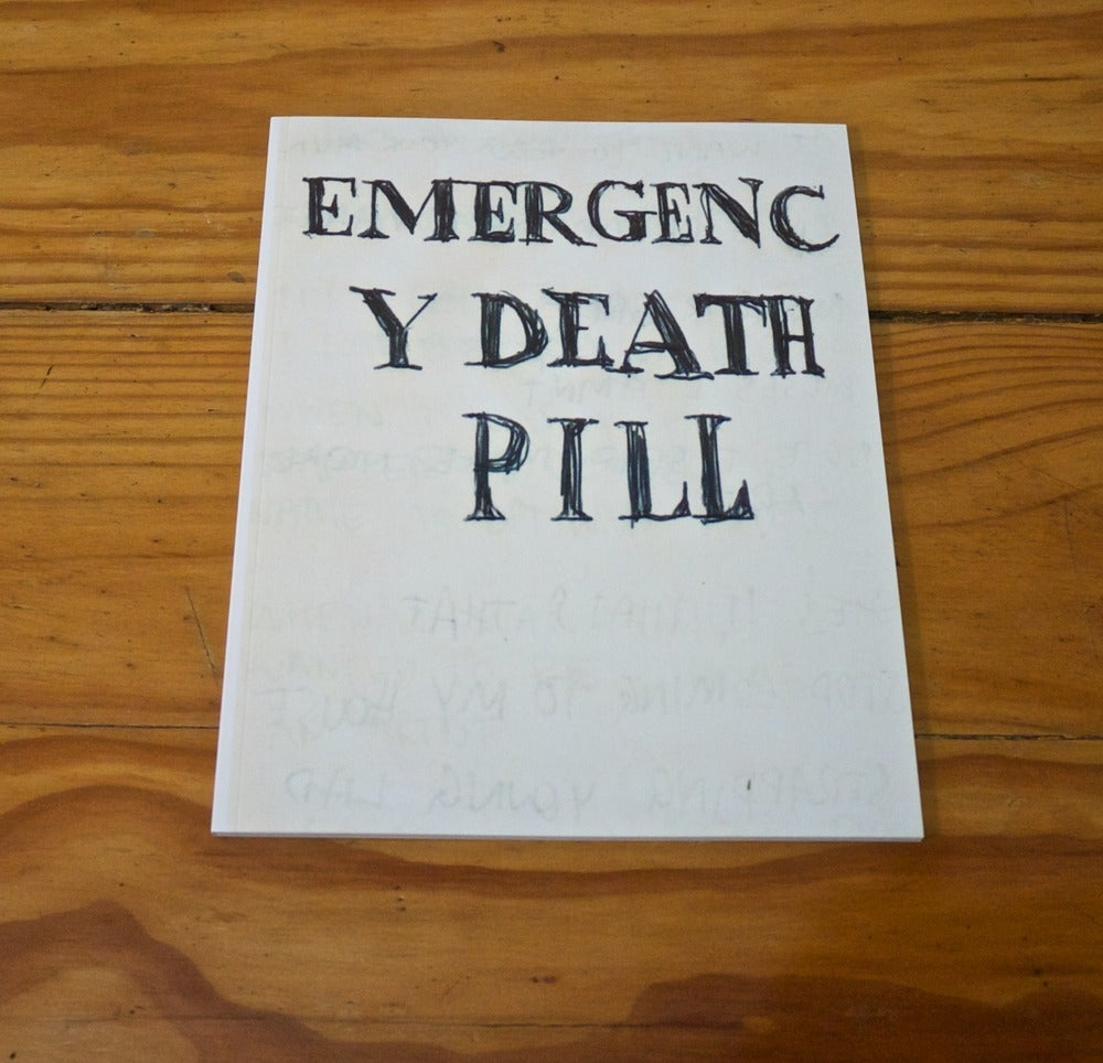 Image of Emergency Death Pill - Large - Printed book by Jonathan McBurnie