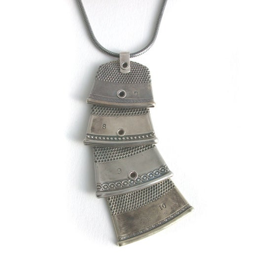 Image of 4 thimbles necklace ~silvery~