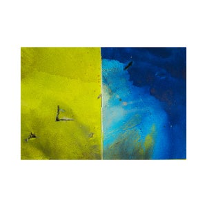 Image of CY DUNE - Where the Wild Thing Diptych #1 (Yellow and Blue)