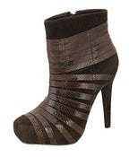 Image of Striped Ankle Booties