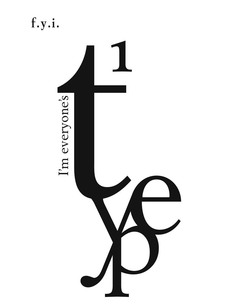 "Image of ""Type"" Typography Print"