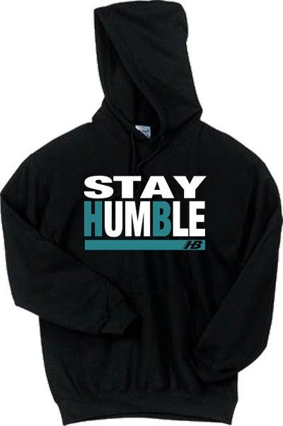 Image of HB- Stay Humble Hoodie (black/ teal)