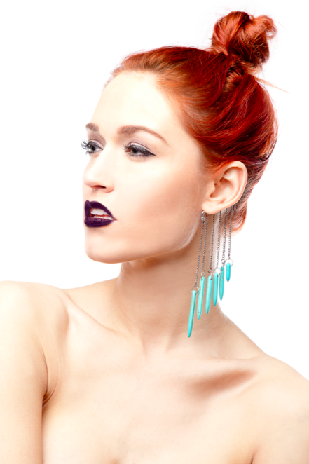 Image of Spiked Howlite Ear Cuff
