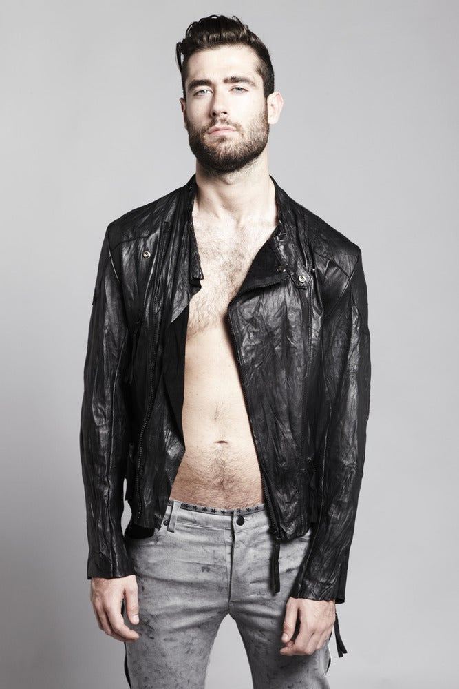 Image of Leather Biker Jacket