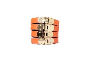 Image of Burnt Orange Leather Beltlett with Gold Hinges