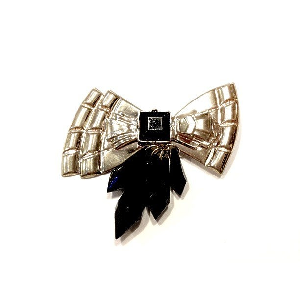 Image of Limited Edition Gold/Silver Bow Brooch in the style of Sarah Taylor #Girlfri3nds