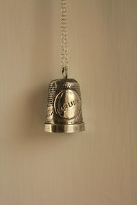 "Image of ""Darling"" Silver Thimble Sweetheart Necklace"