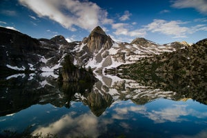Image of Rae Lakes Reflection - 16x24 canvas print
