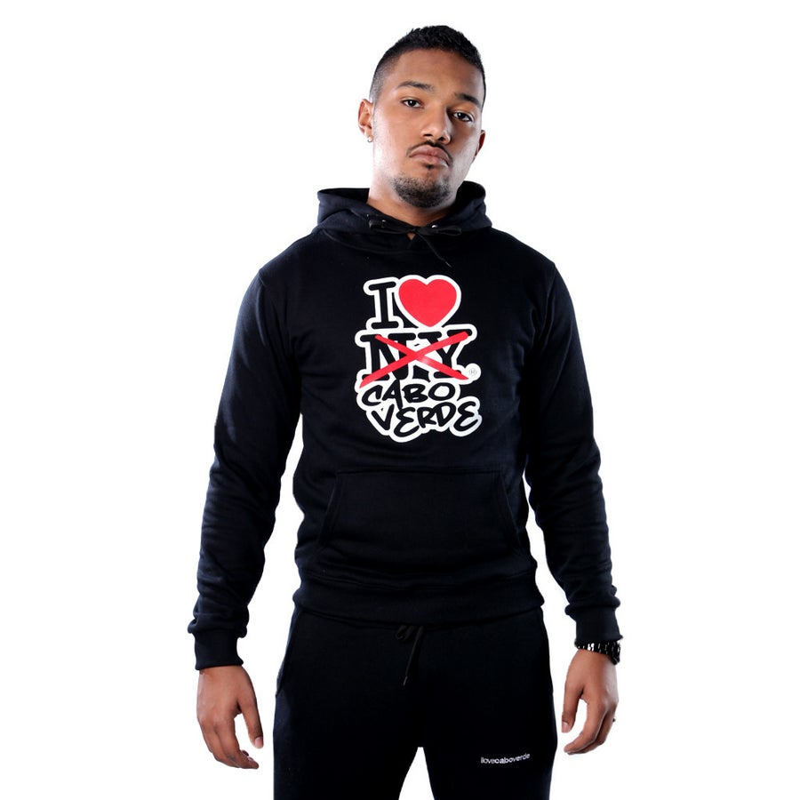 Image of Men Black Hoodie & Sweatpants