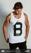 Image of Men 'B' Singlet - White