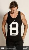 Image of Men 'B' Singlet - Black
