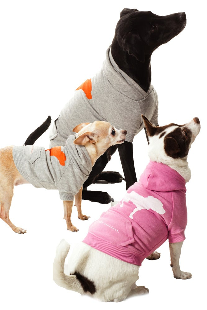 Image of tiny tim pink signature dog hoodie