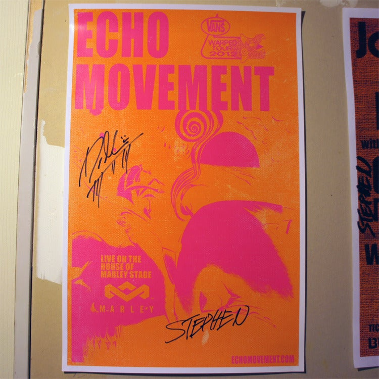 Image of Autographed Tour Poster: Vans Warped Tour 2012