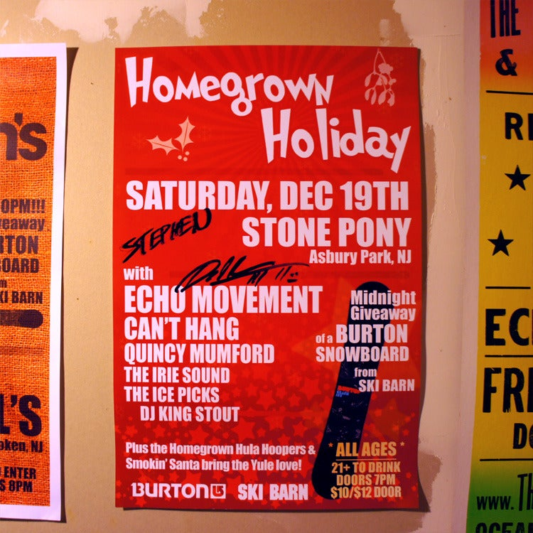 Image of Autographed Tour Poster: Homegrown Holiday @ Stone Pony
