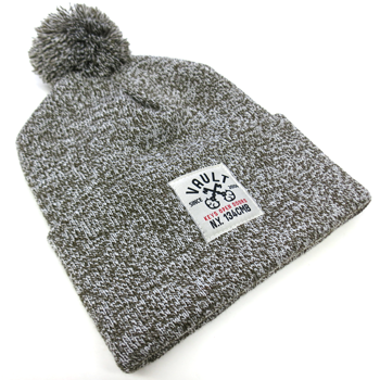 Image of Keys Open Doors Beanie (Olive Pompom)