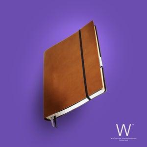Image of Whitebook Standard S024, cut boxcalf, hazel brown, 240 p. (fits iPad / Air / Mini / Samsung)