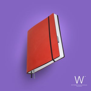 Image of Whitebook Standard S041, cut boxcalf, red, 240p. (fits iPad / Air / Mini / Samsung)