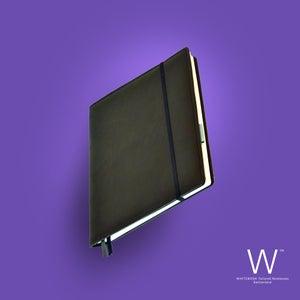 Image of Whitebook Premium P003w, nappa leather black, welt-sewn, 240p. (fits iPad / Air / Mini / Samsung)
