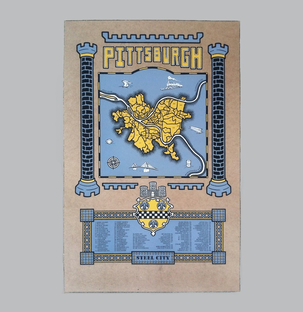 Image of pittsburgh map