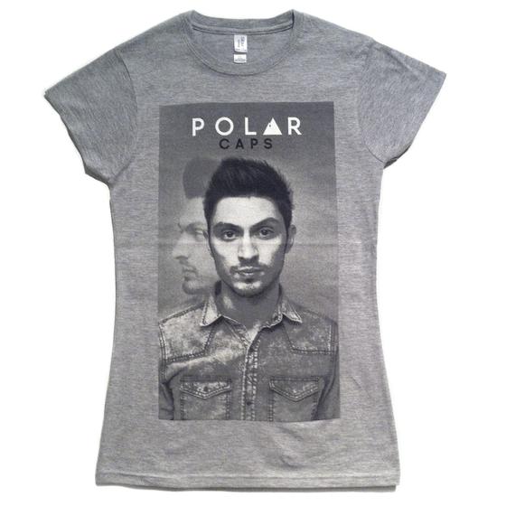 Image of Polar Caps 'Portrait' Girls Tee (Sports Grey)