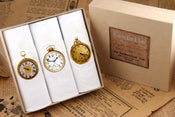 Image of Box of III Men's Hankies: Pocket Watches