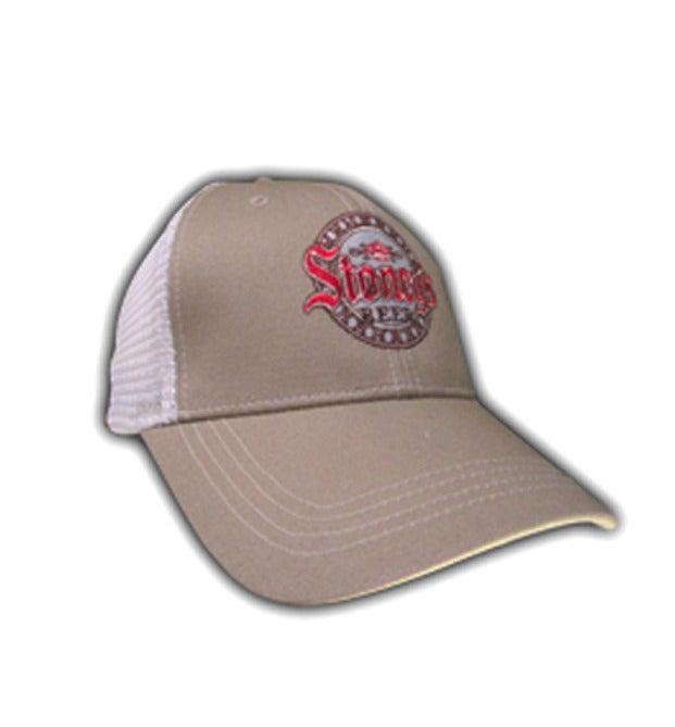 Image of Stoney's Khaki&White Mesh Hat