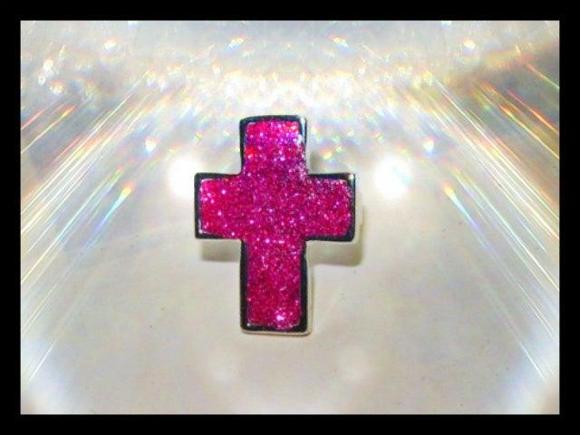 Image of Glitter Cross Ring