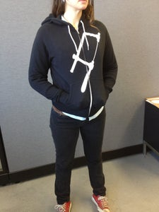 Image of black zipper front hoodie